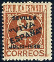 ESPAGNE / SPAIN / ESPAÑA 1936 SEVILLA 2c Ed.2 (Emisiones Locales Patrioticas) *
