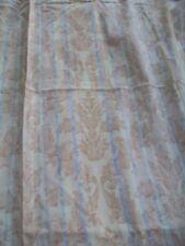 "Shades of cream leaf & stripe curtains  66"" x 53"" Pencil pleat from Debenhams"