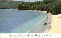 Princess Margaret's Beach St Vincent West Indies ~ vintage postcard