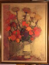 """Bernard Cathelin Print 'Le Vase Blanc' Framed, 23"""" X 30"""""""