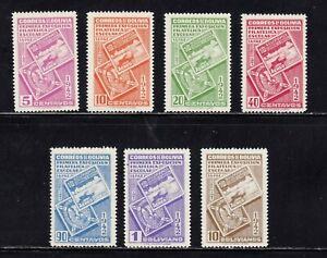 Bolivia stamps #274 - 280, MHOG, VF - XF, complete set, 1942, SCV $33.00