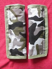 Lightly padded, Camouflage design, Car Seat Belt Cover Pads. X2