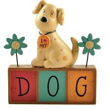 I Love My Dog Resin Ornament – Plaque Gift Shelf Sitter Word Block Heaven Sends