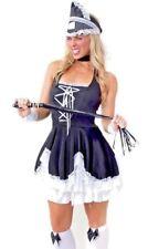 Womens Dominatrix Hens Burlesque Disney Ladies Fancy Dress Costume Size 10 - 12