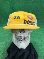 True Vintage BK Donut Deadstock Unworn Yellow White Snapback Trucker Hat Cap