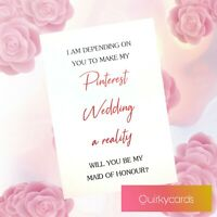 Funny will you be my bridesmaid maid of honour proposal card Pinterest Wedding