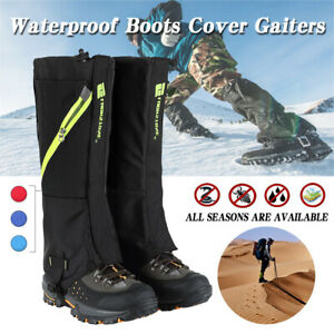 Snowproof Waterproof Leg Gaiters Nylon Shoes Boot Zip Cover for Hunting Hiking