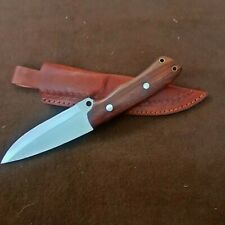 """New 10"""" Long forged hammering Hunter Knife Custom Made With Leather Sheath"""