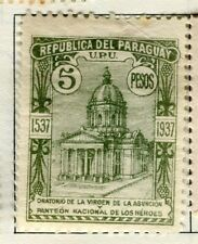 PARAGUAY;   1938 early Asuncion issue Mint hinged 5P. value