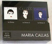 MARIA CALLAS - LA DIVINA 1-2-3 - 3 CD Sigillato Limited Edition