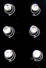 6 Claro Cristal Remolino Pelo giros Bobinas espirales Accesorios para el cabello Nupcial Clip Pin