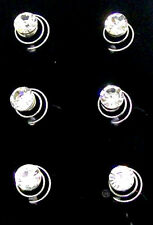 6 Clear Crystal Swirl Hair Twists Coils Spirals Bridal Hair Accessories Clip Pin