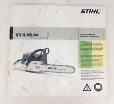 Stihl MS440 Chainsaw Instruction Owner's Manual