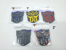 "Transformers Autobot badge emblem 3"" inch BLACK Yellow RED Blue USA Carbon"