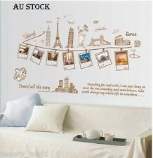 "NEW~""World Travel"" Removable Family Home Decor DIY Vinyl Wall Sticker Decal Art"