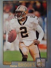 NFL 232 Aaron Brooks la Nouvelle Orleans Saints TOPPS 2001