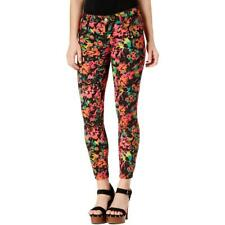 GUESS Womens Pink Floral Print SKINNY Jeans 27 Waist