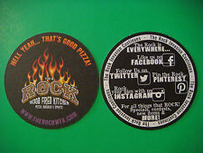 BEER Bar COASTER ~ The ROCK Wood Fired Kitchen, Pizza, Beer ~ COLORADO Locations