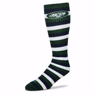 NFL New York NY Jets Striped Knee High Hi Tube Socks One Size Fits Most Adults