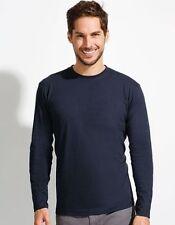 Camisetas de hombre de manga larga en rojo 100% algodón