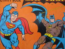 DC Comics Batman Superman Coloring Book Lot Vintage Superhero 1987