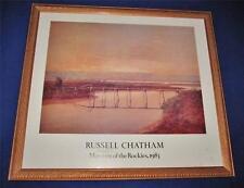 Framed Art Print by RUSSELL CHATHAM Museum of the Rockies 1983 Waterway Bridge