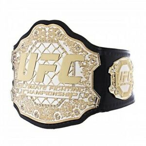 UFC Ultimate Fighting Championship Leather Title Belt Dual Plated Adult-BrandNew