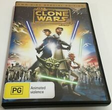 star wars THE CLONE WARS - 2 DISK SPECIAL EDITION dvd REGION 4 movie RARE  2008