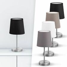 LED Tischleuchte Stoff Deko-Lampe Nachttisch-Leuchte Wohnzimmerlampen E14 weiß