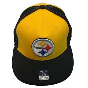 Pittsburgh Steelers NFL Reebok Gridiron Classic 7 1/2 Fitted Cap Hat $25