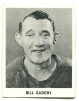 1965-66 Coca-Cola NHL Bill Gadsby Card Detroit Red Wings