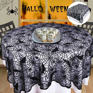 Halloween Lace Table Cloth Spider Web Cobweb Cover Party Tablecloth Decoration