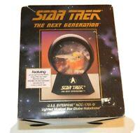 Star Trek USS Enterprise NCC 1701-D Lighted Musical Star Globe Halodome
