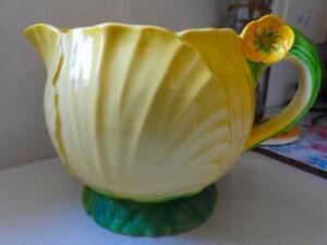 Carlton Ware England - LARGE Buttercup Flower Jug - C1926  - Reg No:2291