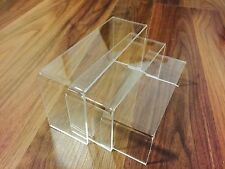 New Clear Small Nesting Plinths Acrylic Riser Counter Jewellery Display Stand UK