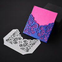 HK- Lace Frame Cutting Dies Stencil Gift Card Embossing Craft DIY Die-Cut Fashio
