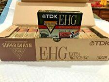TDK TC-40 EHG Camcorder Extra High Grade VHS-C (10 pcs) Recordable Blank Tapes