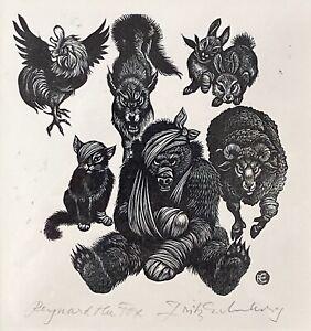 Fritz Eichenberg - Reynard the Fox Wood Engraving Edition of 25 (Signed, COA)