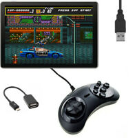 6 Button USB Controller Joystick Game Pad Sega Mega DR Style Fighting Android PC