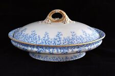 ANTIQUE ROYAL WORCESTER ENGLAND CHINA W 2805 PATTERN IN BLUE SERVING DISH BOWL