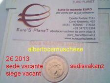2 euro VATICAN 2013 siège vacant sede vacante sedisvakanz Vaticano Vatikan