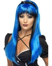 Ladies Halloween Fancy Dress Wig Bewitching Wig Blue/Black New by Smiffys
