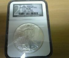 1991 American Silver Eagle  NGC MS68 20th Anniversary Collection