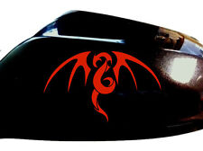 Tribal Dragon Car Sticker Wing Mirror Styling Decals (Set of 2), Red