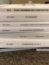 Lot Of 6 Marine Handbooks: Mci 8017;8016;8015;8014;8012; 8011 Education Studybook