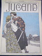 Robert Engels Ritterliches Werben um die Braut Titelblatt Münchner Jugend 1897