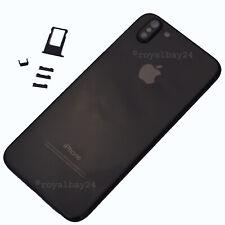 iPhone 6s → 10 X Look Alu / Glas Rahmen Schwarz Gehäuse Rückseite Backcover NEU