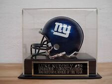 Football Mini Helmet Case With A Luke Kuechly Panthers Engraved Nameplate