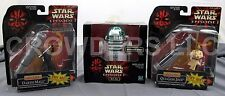 Star Wars Episode 1 Deluxe Darth Maul & Qui Gon Jinn + Action Collection R2-A6