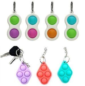 Push Pop Simple Dimple Mini Fidget Toy Sensory Stress Relief Special Autism